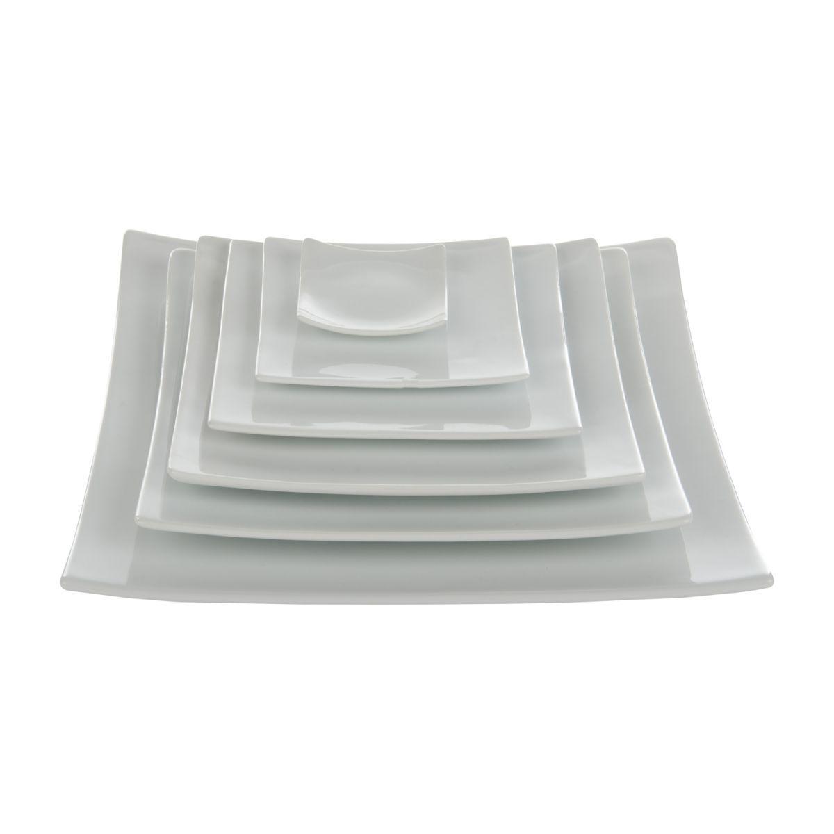 plate plain square 12 x 12 cm box6