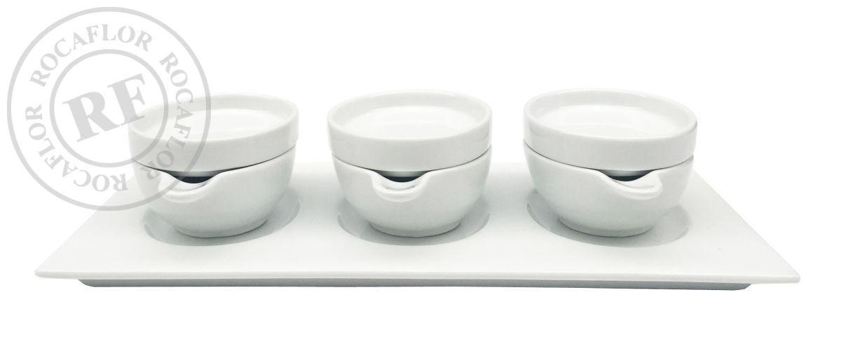 plate porcelain rectangular w 3 oval bowls w3oval plates