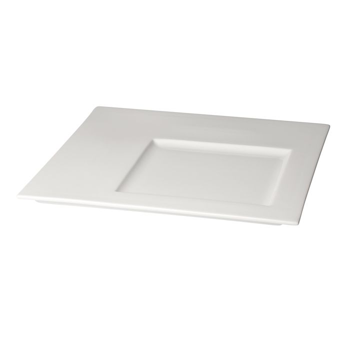 plate white porcelain square with compartment 305x305cm box12