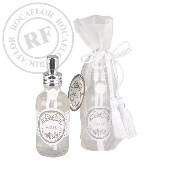 kamer parfum roos 60ml in luxe organza verpakking