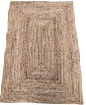 Rug braided jute rectangular natural 120x180cm