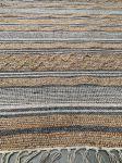 Rug braided jute, wool, PET cotton white grey 200x300cm