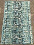 Rug Cotton with print seablue 80x140cm