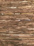 Rug recycled leather walnut copper gold 80x140cm