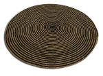 Rug round 150cm braided concentric burlap natural and black