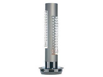 Rocaflor staande lamp aluminium kristallen modern cilinder
