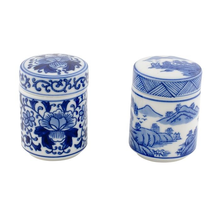 storage pot set2 with lid round small