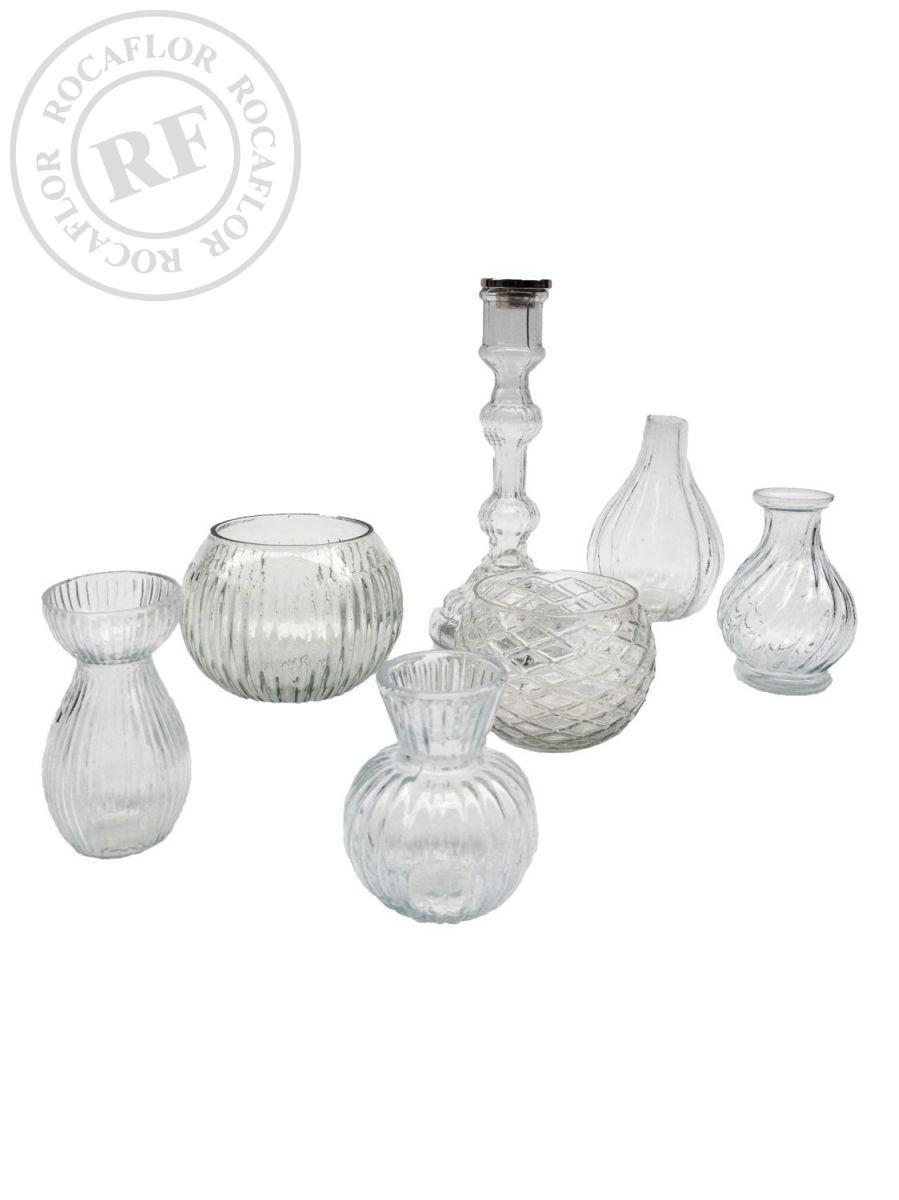 vase glass clear 8x8x115cm