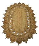 Vloerkleed jute naturel ovaal 120x180cm 100% handgemaakt