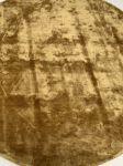 Vloerkleed Viscose ø 200 cm Mosterdgeel