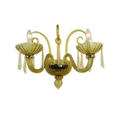 wall lamp mouthblown glass venice amber hg 36 61 cm 41 cm