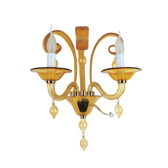 wandlamp mondgeblazen glas roma amber hg 36 41 cm 20 cm